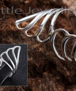Solid Silver Cocktail Ring