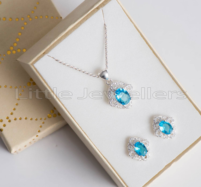 Absolutely Gorgeous & Stunning Aquamarine Necklace set