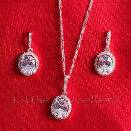 A simple & versatile cz drop necklace set that adds elegance to any look
