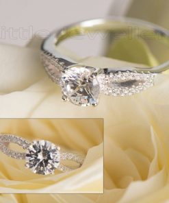 Celebrate Your Love With This Sterling Silver Engagement Ring