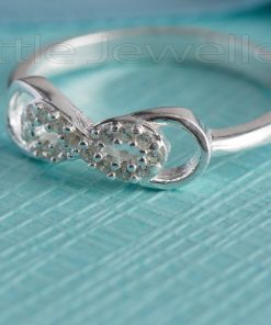 A solid sterling silver Infinity ring