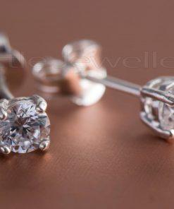 Lustrous Silver Stud Earrings