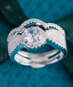 A striking & brilliant princess cut double engagement ring