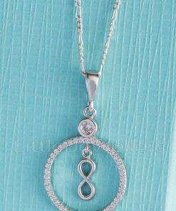 infinity shaped pendant