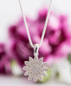 A gorgeous sterling silver sunshine necklace