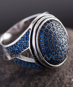 Blue Sapphire Ring For Him.