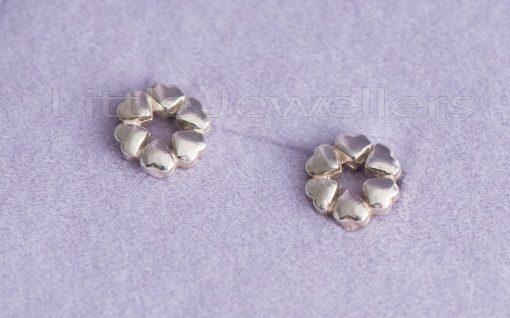 Sterling Silver Heart Shaped Hypoallergenic Stud Earrings