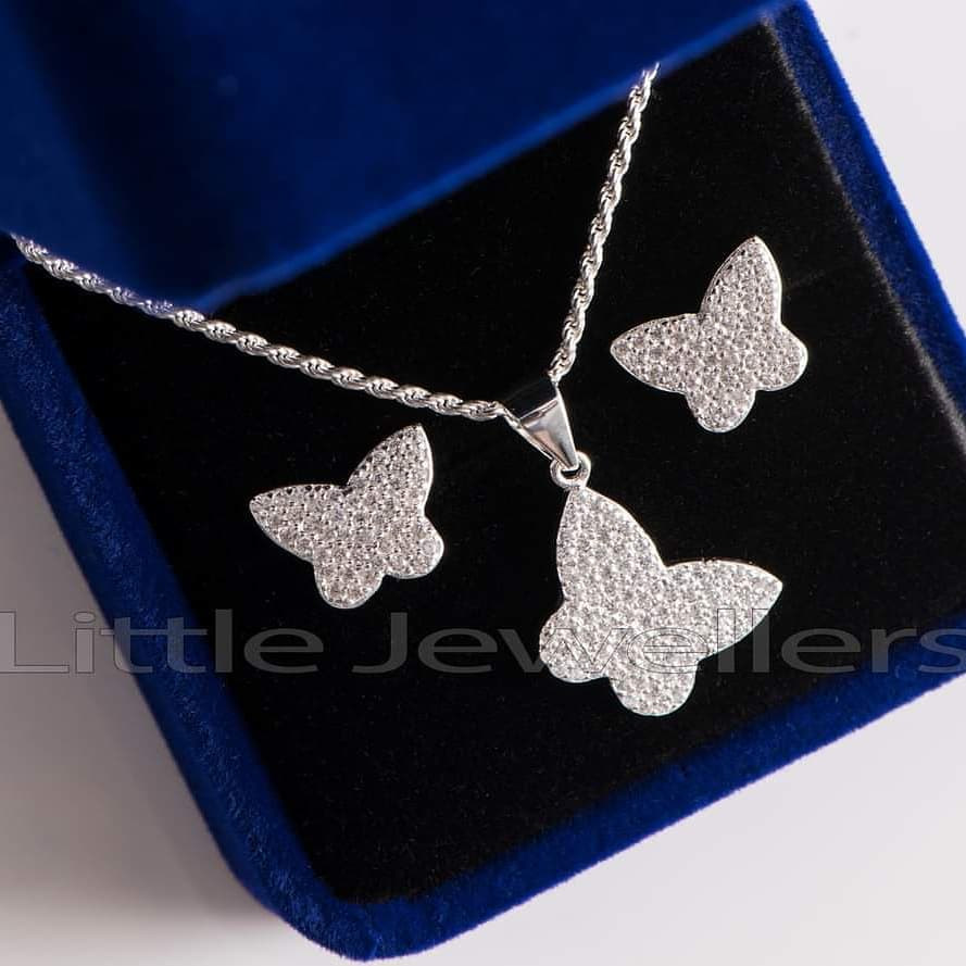 butterfly silver studs