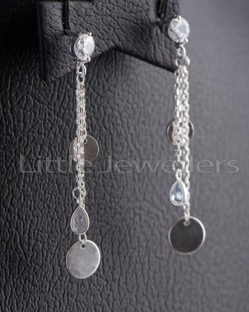 Add an elegant touch to any outfit with this pair of long dangle earrings