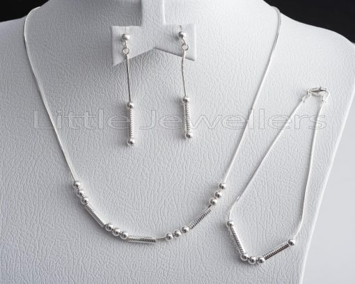 knot and chain matching Necklace, earring and bracelet set
