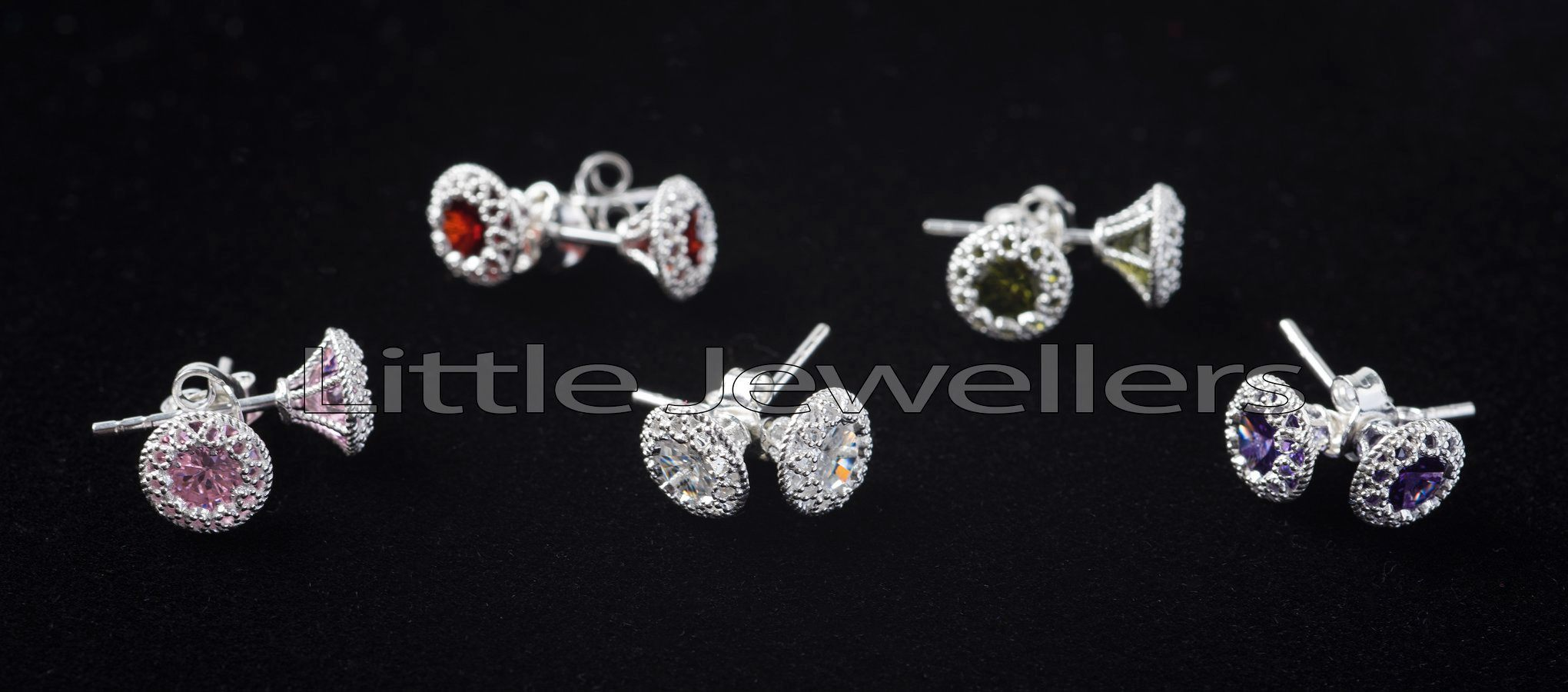 Add a touch of color and style to any ensemble with this pure silver stud earrings