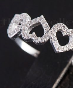 A Triple Heart Sterling Silver Friendship Ring