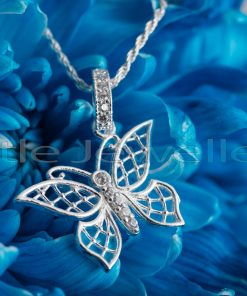 A dainty & delicate butterfly silver pendant that will definitely brighten the day ahead.