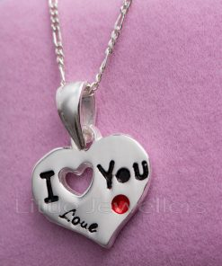 This solid silver heart pendant is the ultimate gift to anyone you hold close to your heart.