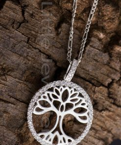 Complete Your Look With This Uniquely Crafted Tree Of Life Pendant Necklace.