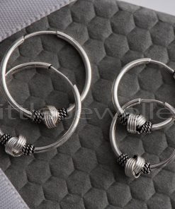 bali loop earrings