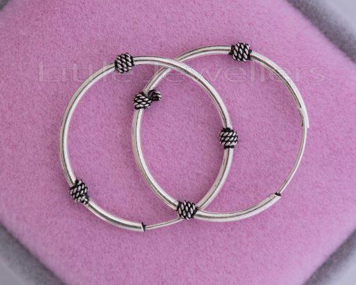 Balinese Handmade Silver loop earrings