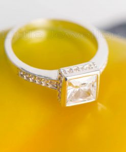 A unique brilliant square cut engagement ring that will sit perfectly on her finger.