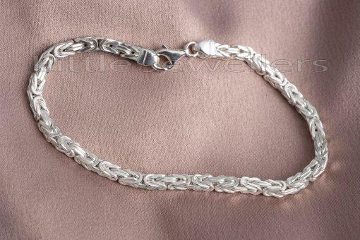 silver Italian byzantine bracelet