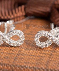 silver infinity earrings for sensitive skin