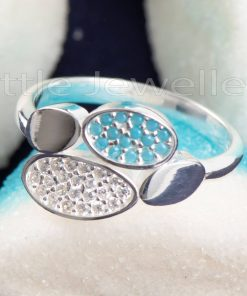 This lovely Aqua Marine Sterling Silver Friendship Ring Is A Sweet Symbol Of Your Forever Bond