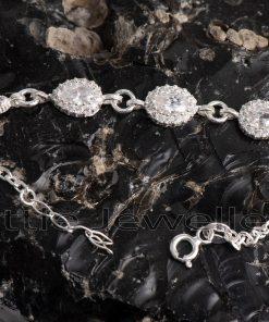 Intricate and stylish silver bracelet
