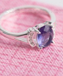 Purple Gem engagement ring