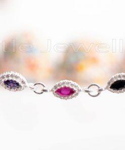Purple Red and Black Gem bracelets