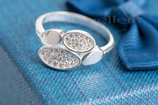 Add a touch of glamour with this dainty sterling silver ring