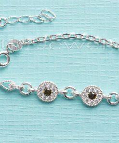 Glistening cz Peridot Bracelet