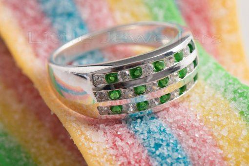 Emerald Friendship Ring