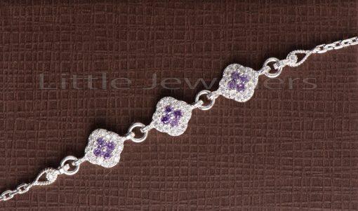 purple gem silver bracelet