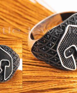 Playful Bold & Black Male Ring