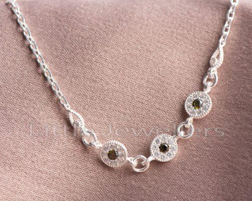 Peridot green gems bracelet