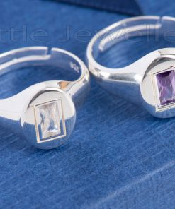 sterling silver adjustable couple rings.
