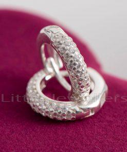 Silver Round Hoops Earrings