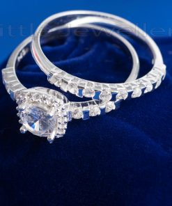 stunning double engagement ring
