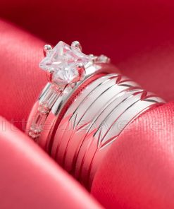 silver matching wedding bands