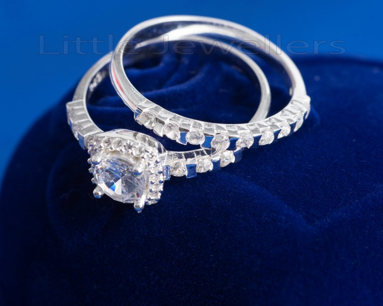 A Uniquely Stunning Double Engagement Ring